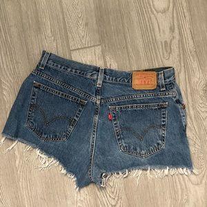 Vintage Levi's Cut Off Denim Shorts Size 10